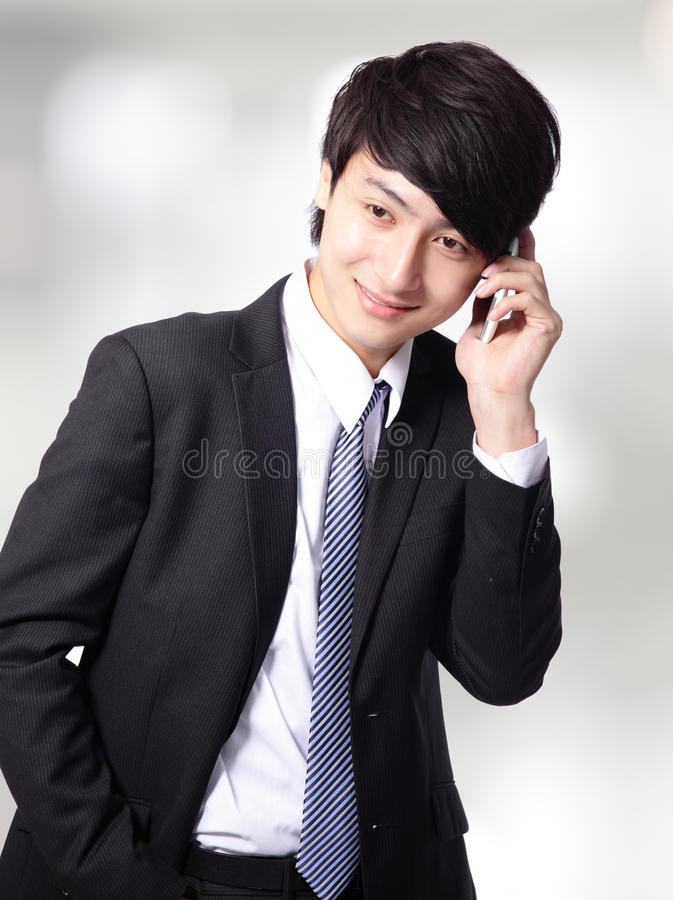 Download Businessman Speaking Smart Phone Stock Photo - Image: 29712390