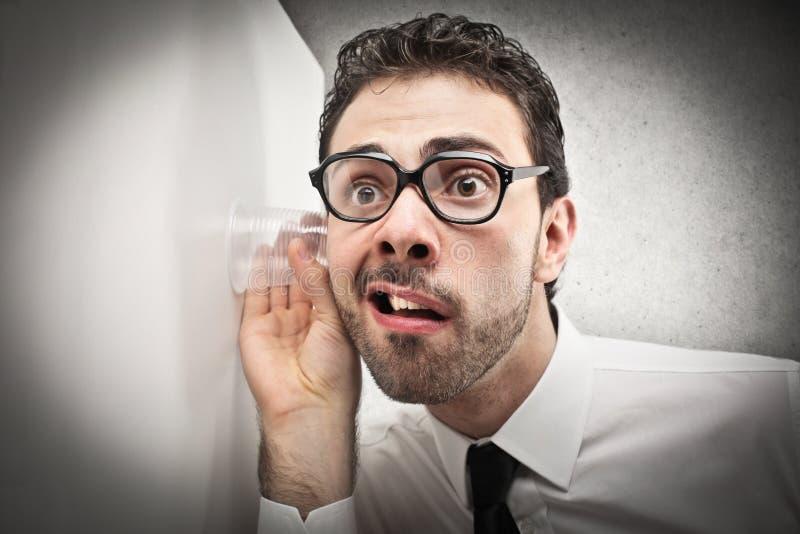 Businessman spying stock photos