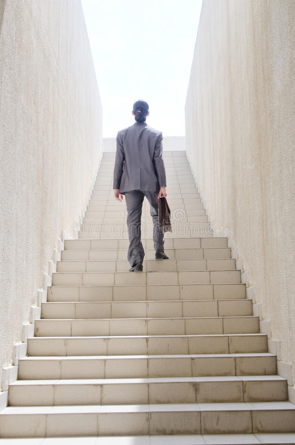 Download Businessman With Stair - Business Concept Stock Photo - Image: 26480608