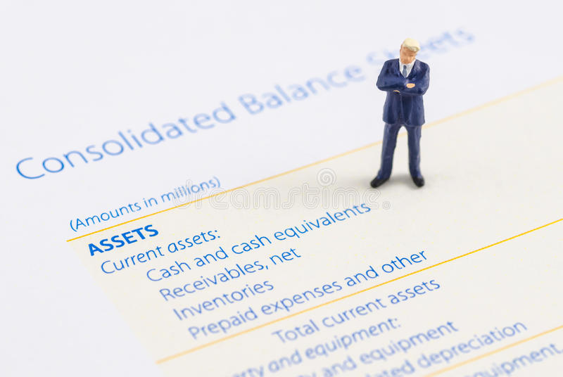 Download Businessman Stand On The Balance Sheet Stock Photo - Image of finance, white: 39513652
