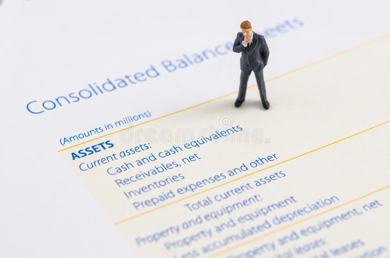 Download Businessman Stand On The Balance Sheet Stock Photo - Image of profit, taxes: 39513668