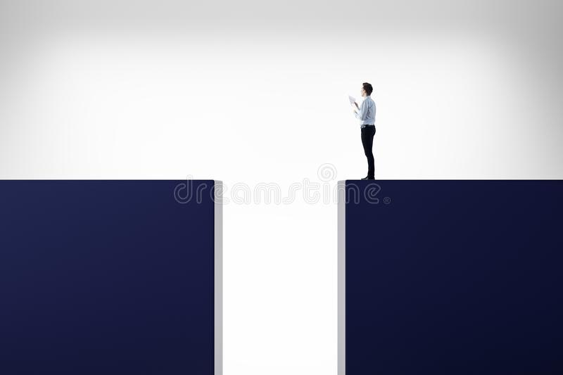 Risk, challenge and career concept royalty free stock photography