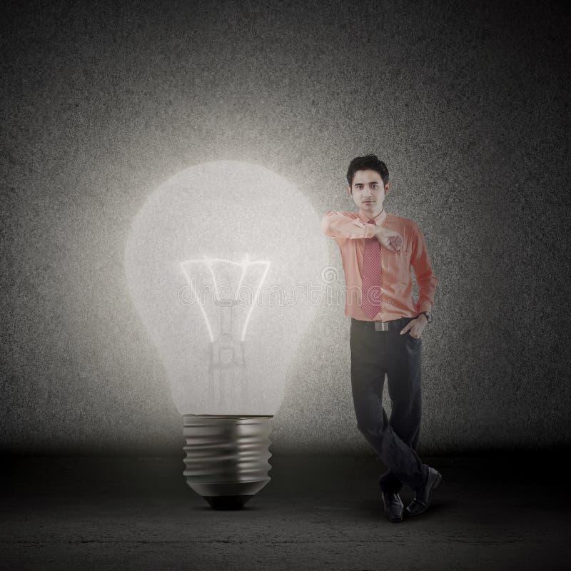 Businessman and bright idea