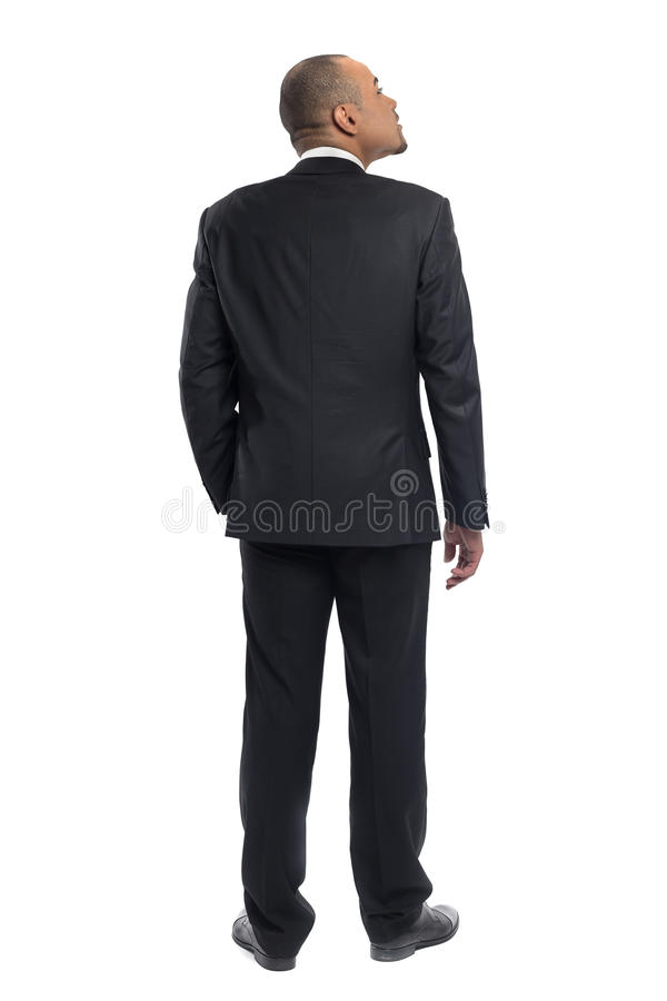 Businessman standing isolated royalty free stock images