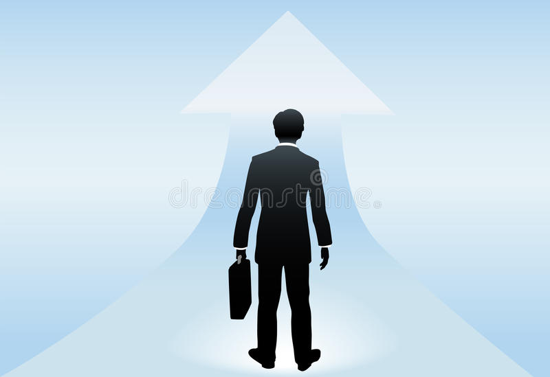 Download Businessman Stands For Success In Future Stock Vector - Illustration: 11077507