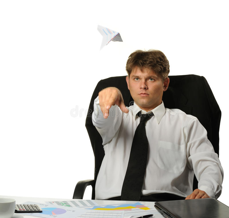 Download The Businessman The Starting Paper Plane Stock Photo - Image: 10409722