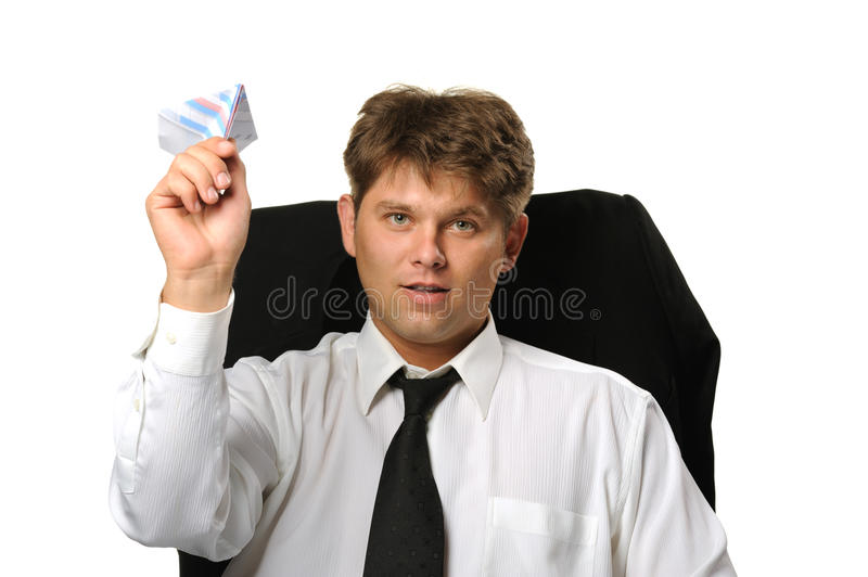 Download The Businessman The Starting Paper Plane Stock Image - Image: 10874509