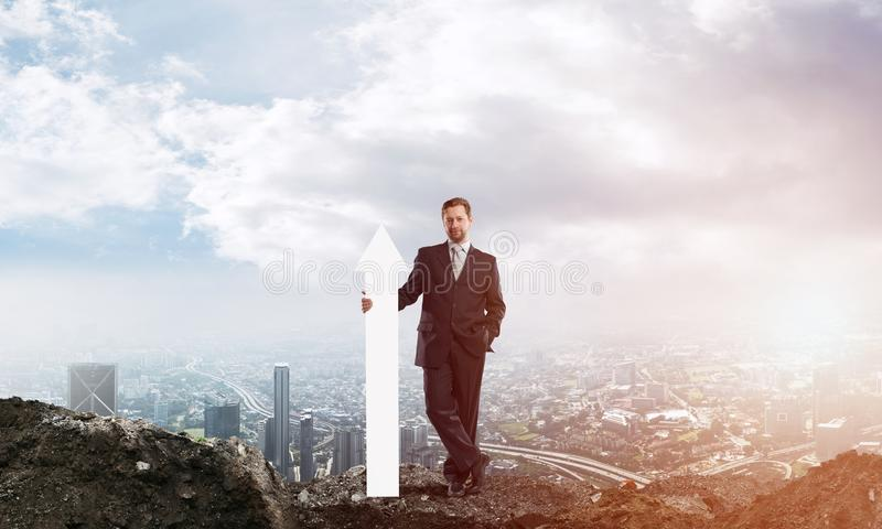 Businessman startup conceptual image stock illustration
