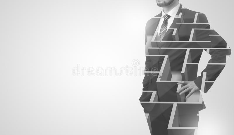 Businessman is staying. royalty free stock image