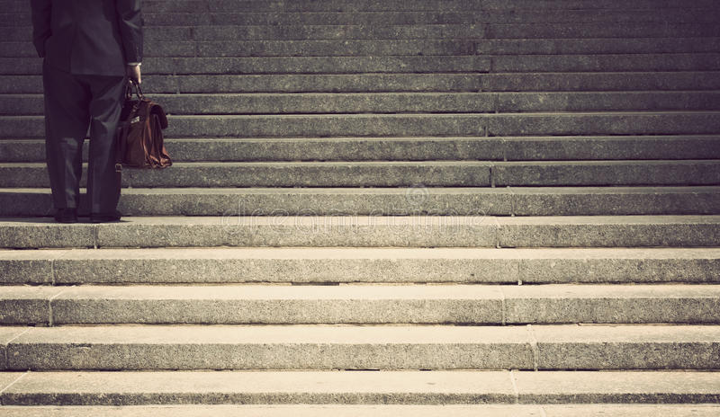 Download Businessman on steps stock image. Image of anonymous - 26120239