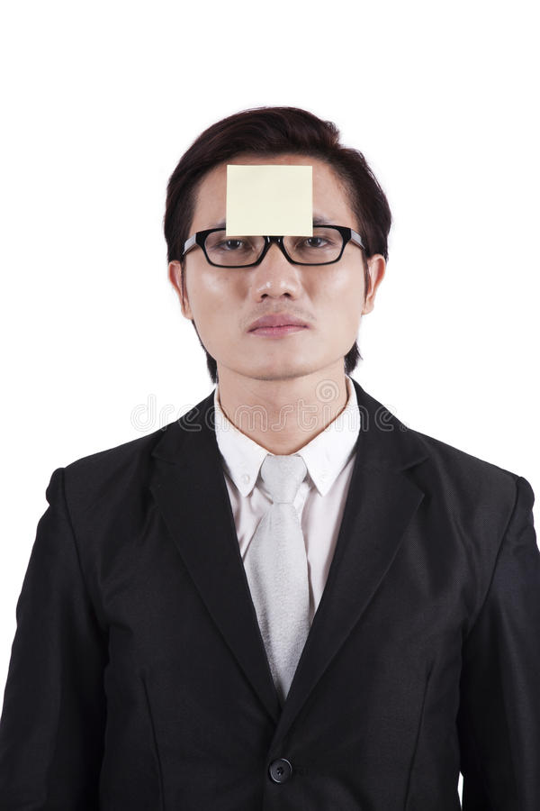 Download Businessman With Sticky Note On His Head Stock Photo - Image: 22737530