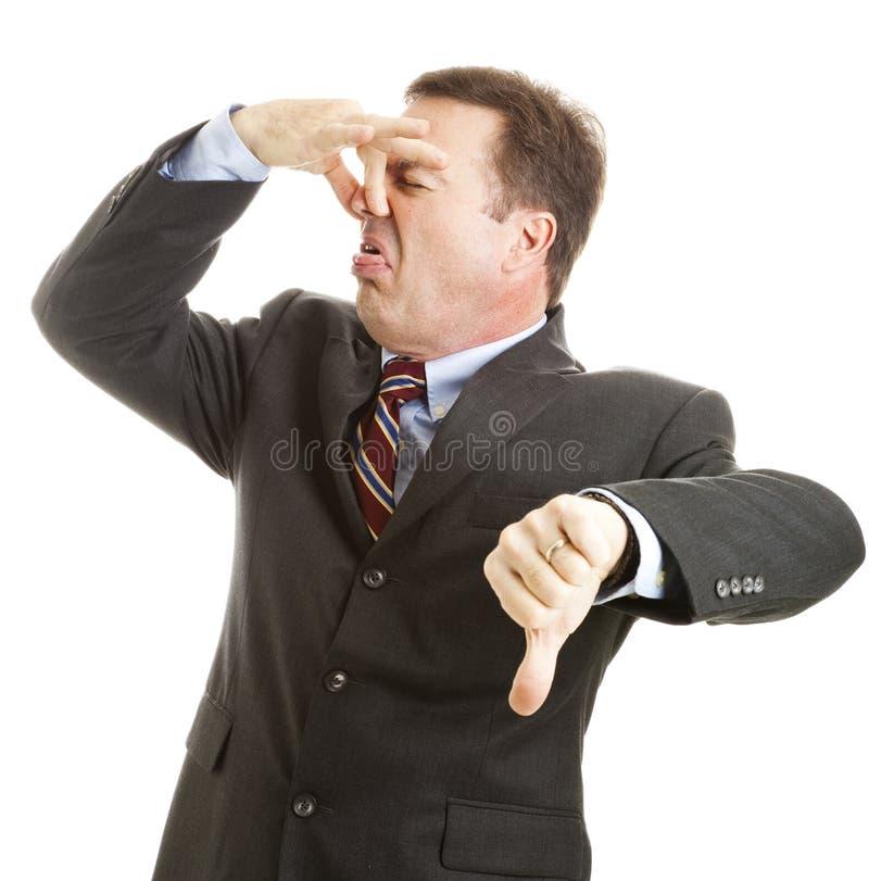 Businessman - It Stinks stock image