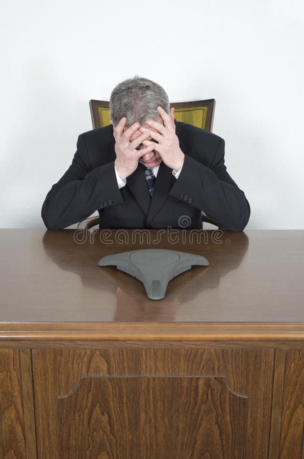 Free Businessman Stress Conference Telephone Royalty Free Stock Photos - 38769348