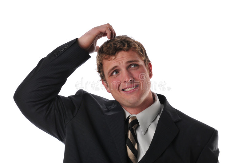 Businessman stressed out royalty free stock photos