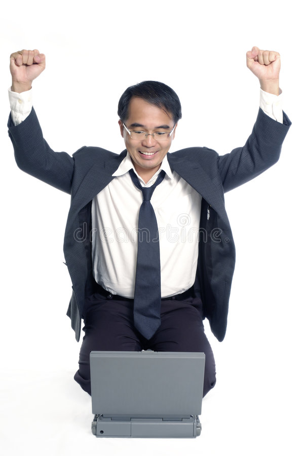 Download Successful Businessman Cheering Stock Image - Image: 3846091