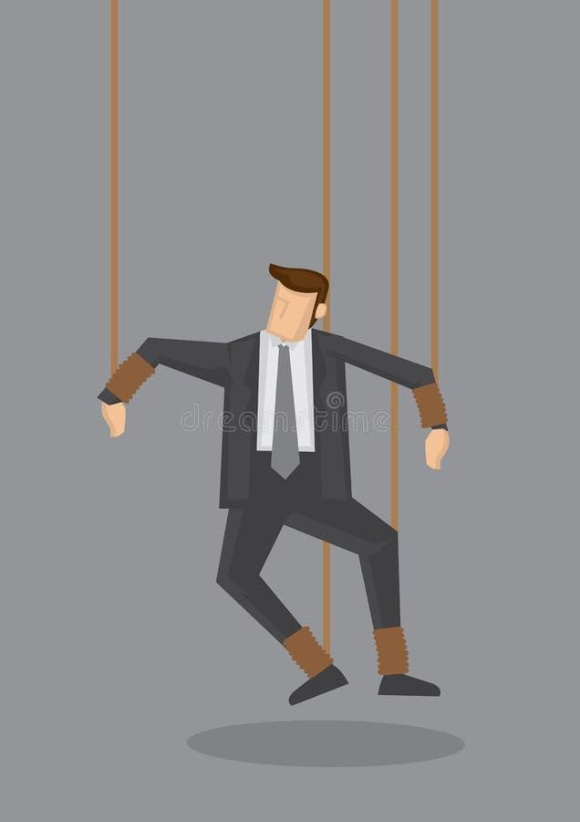 Businessman String Puppet Vector Concept Illustration stock illustration