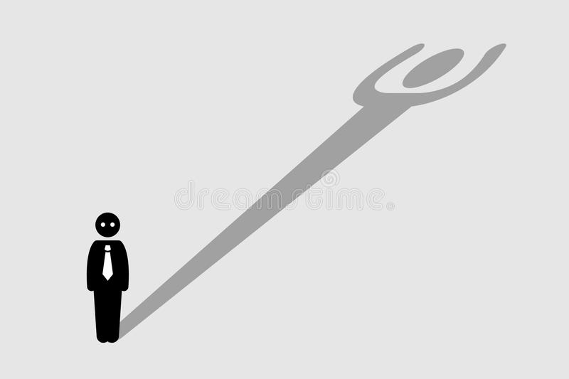 Businessman Strong Confident Shadow stock illustration