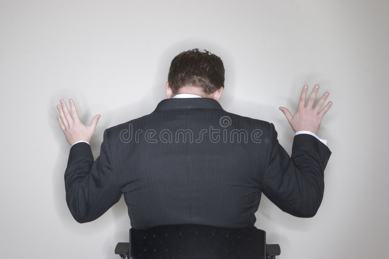 Businessman Submission stock photography