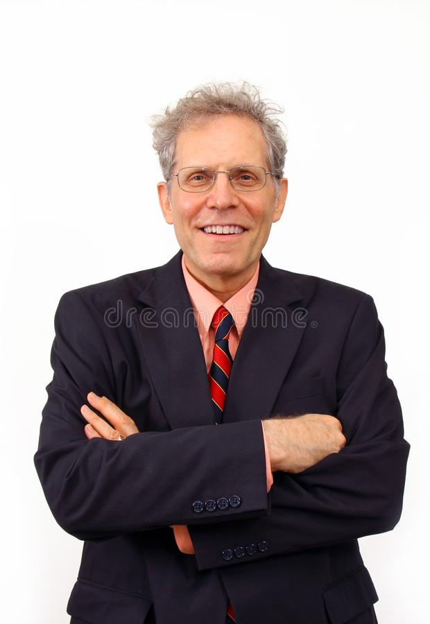 Businessman in a suit royalty free stock images