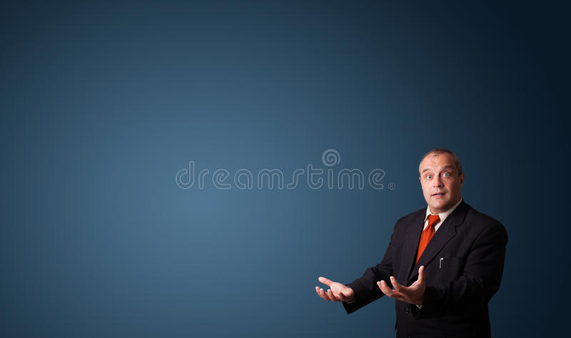 Download Businessman Gesturing With Copy Space Stock Photo - Image of elegant, cheerful: 29845048