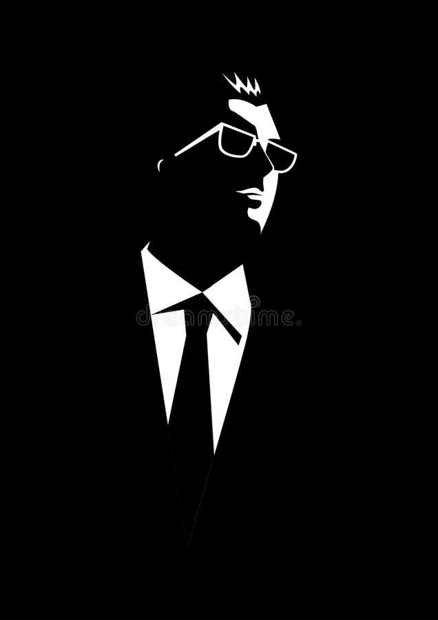 Businessman with sunglasses stock illustration