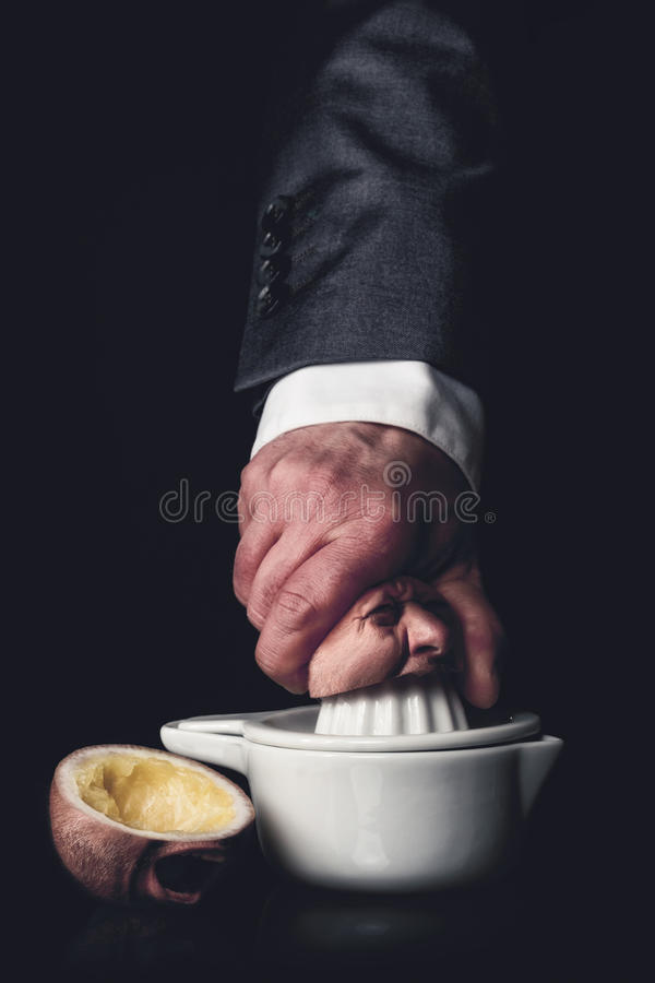 Businessman suppresses an employee royalty free stock photos