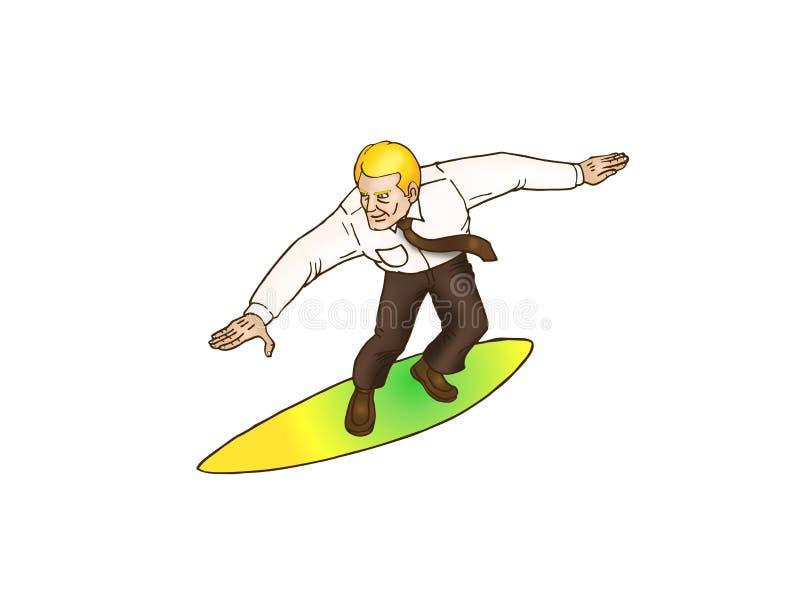 Download Businessman surfing stock illustration. Illustration of career - 12081062