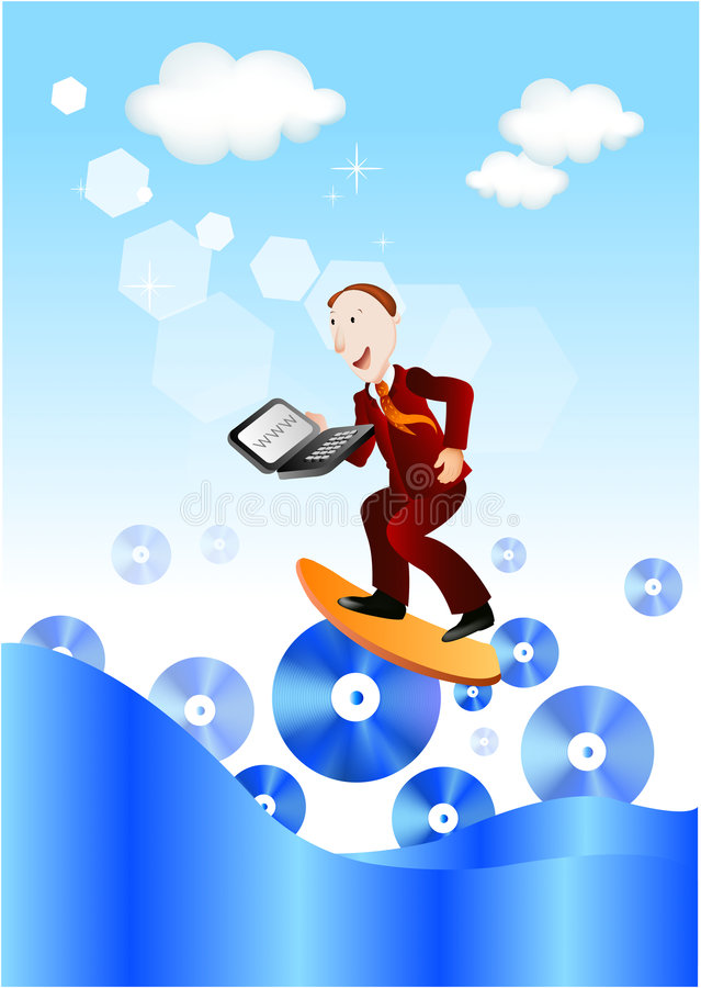 Download Businessman surfing web stock vector. Image of business - 8778428