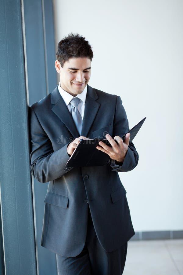 Download Businessman Tablet Computer Stock Photo - Image: 26122240