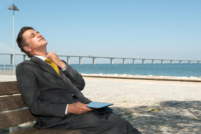 Download Businessman with tablet stock image. Image of male, deal - 32333497