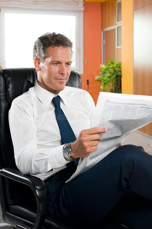 Businessman taking a break stock photography