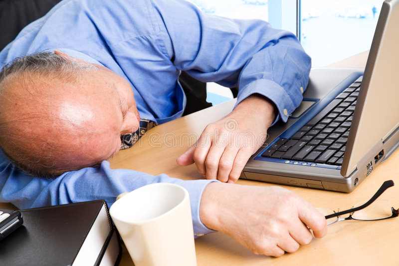 Download Businessman taking a nap stock image. Image of overloaded - 5561655