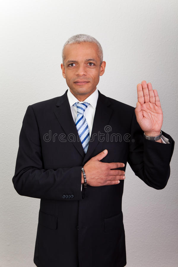 Free Businessman Taking Oath Stock Photos - 17658283