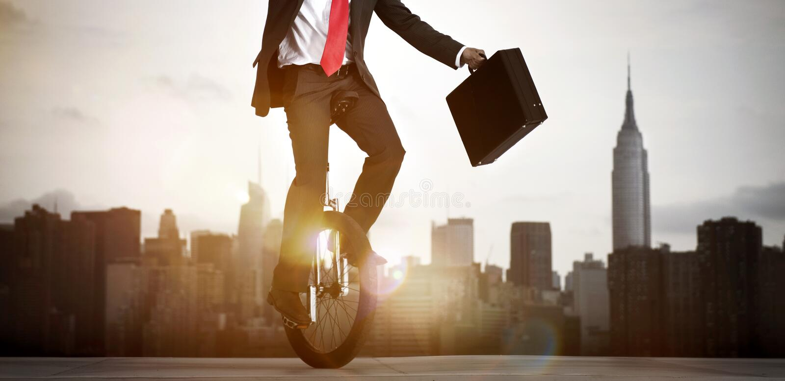 Businessman Taking A Risk In New York City.  royalty free stock images
