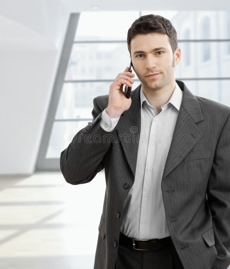 Download Businessman Taling On Mobile Phone Stock Photo - Image: 8489726