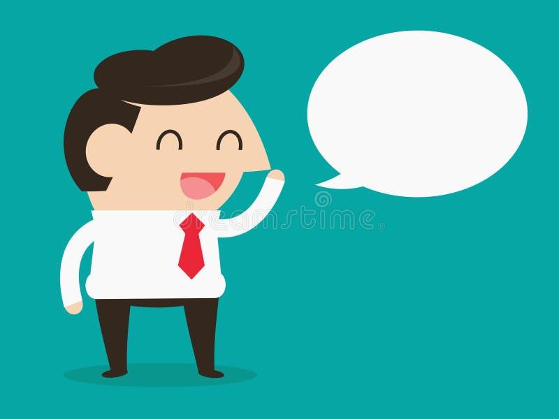 Businessman talking vector illustration