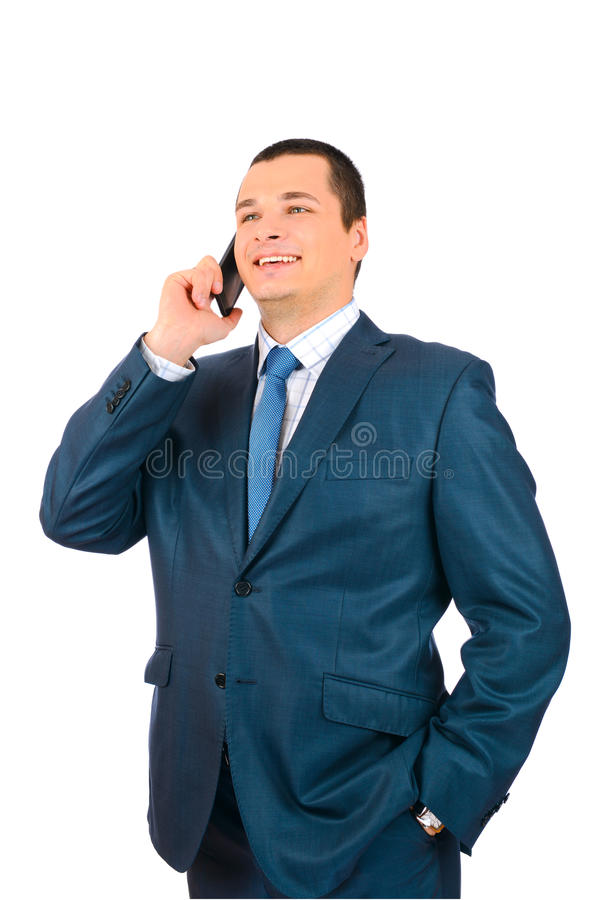 Businessman Talking With Cell Phone Stock Photography