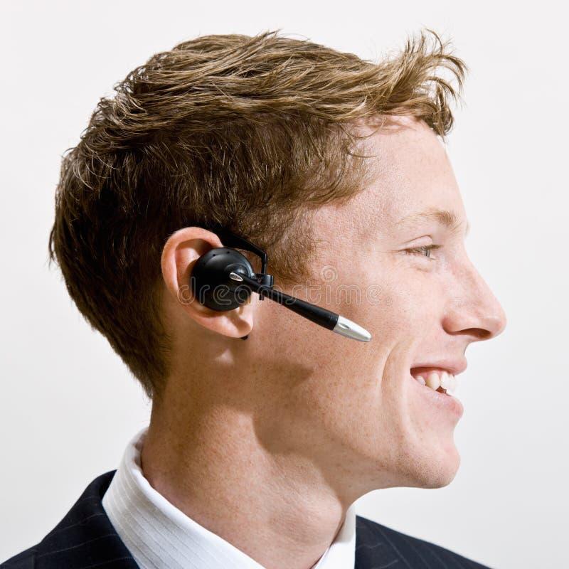 Download Businessman Talking On Headset Stock Image - Image: 17055869