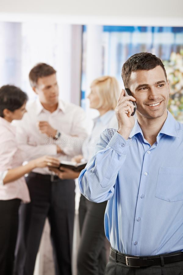 Businessman Talking On Mobile Stock Images