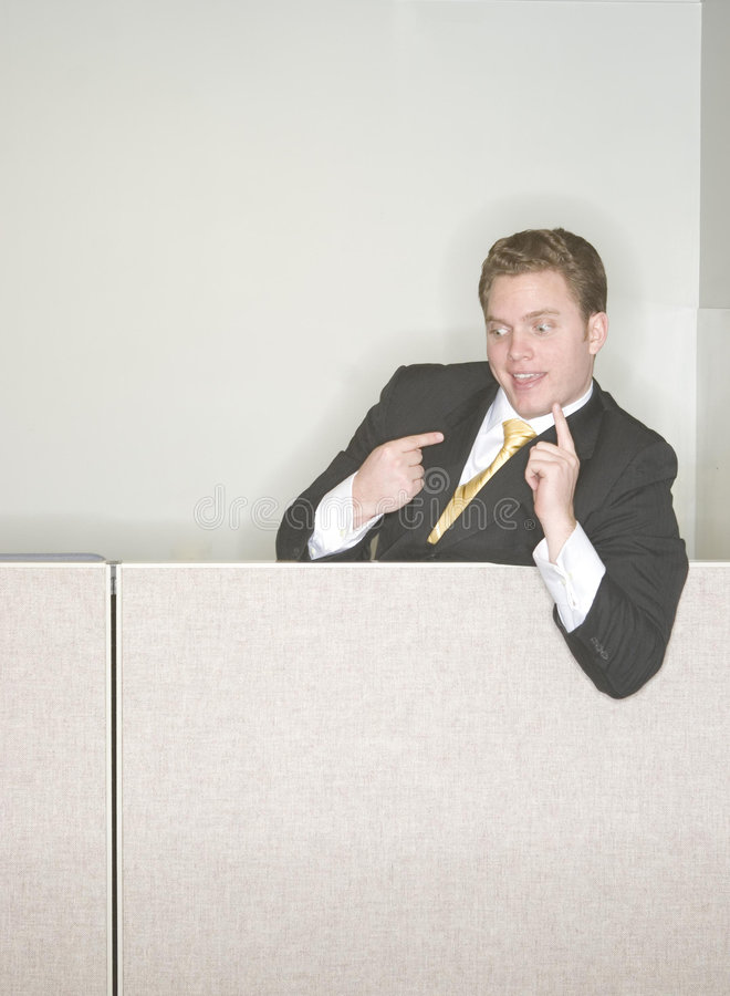 Businessman taunting royalty free stock images
