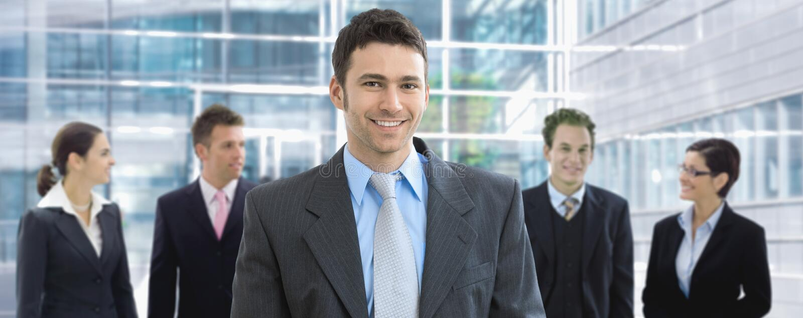Businessman and team stock images