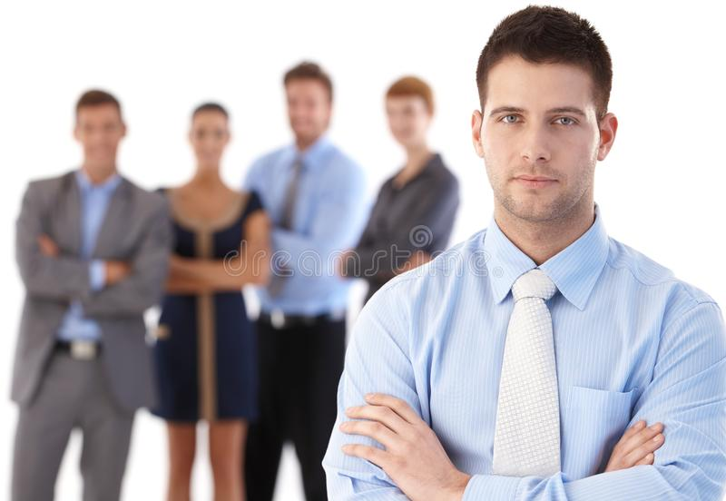 Businessman and team royalty free stock images