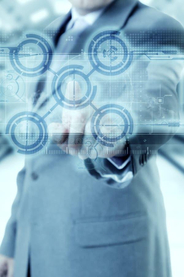 Businessman technology stock image