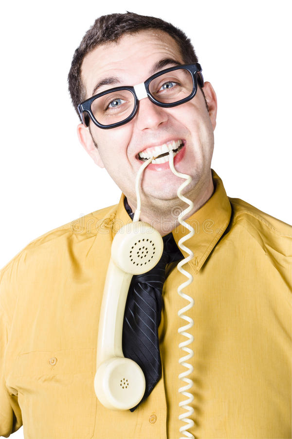 Download Businessman with telephone stock image. Image of concept - 30569991