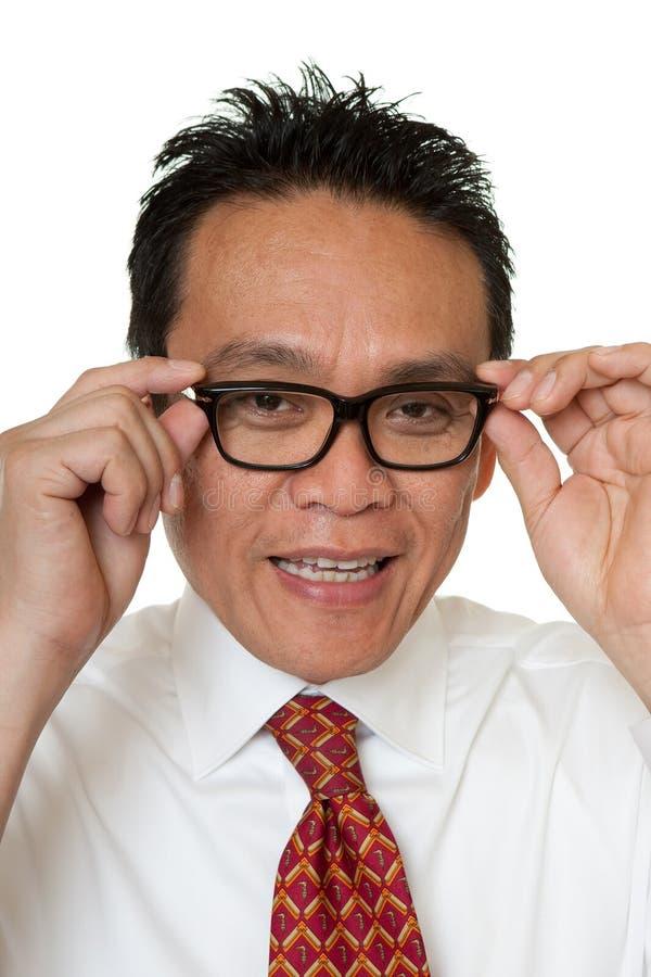 Download Businessman Tests Eyeglasses Stock Photo - Image: 14720056