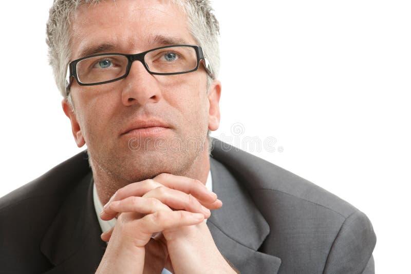 Businessman thinking royalty free stock photos