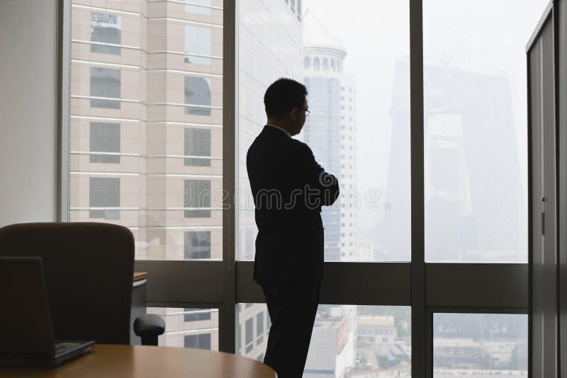 Businessman thinking stock photo