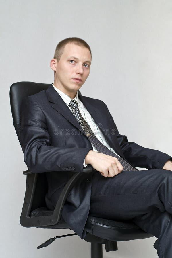 Businessman thinking. stock image. Image of holding ...