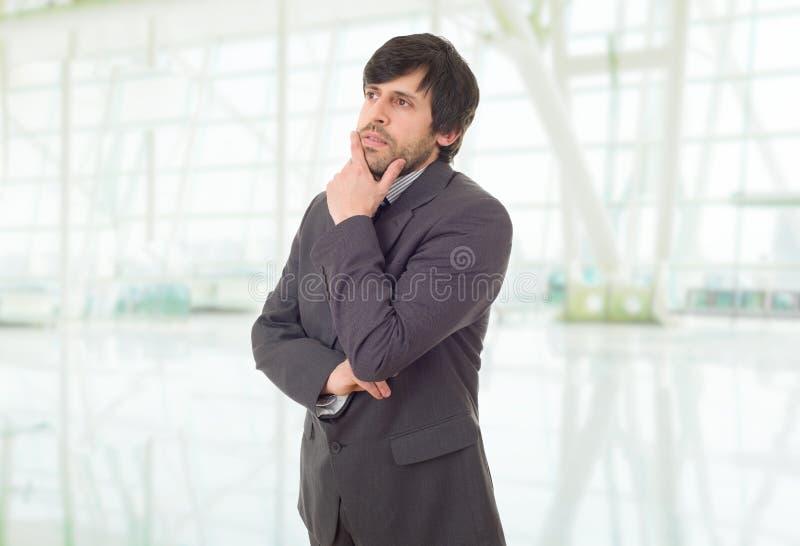 businessman thinking στοκ εικόνα με δικαίωμα ελεύθερης χρήσης