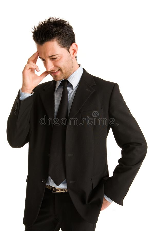 Businessman thinking royalty free stock photography